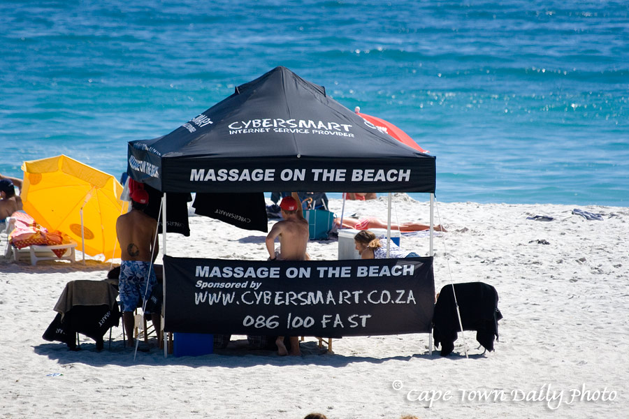 Massage on the beach, anyone?