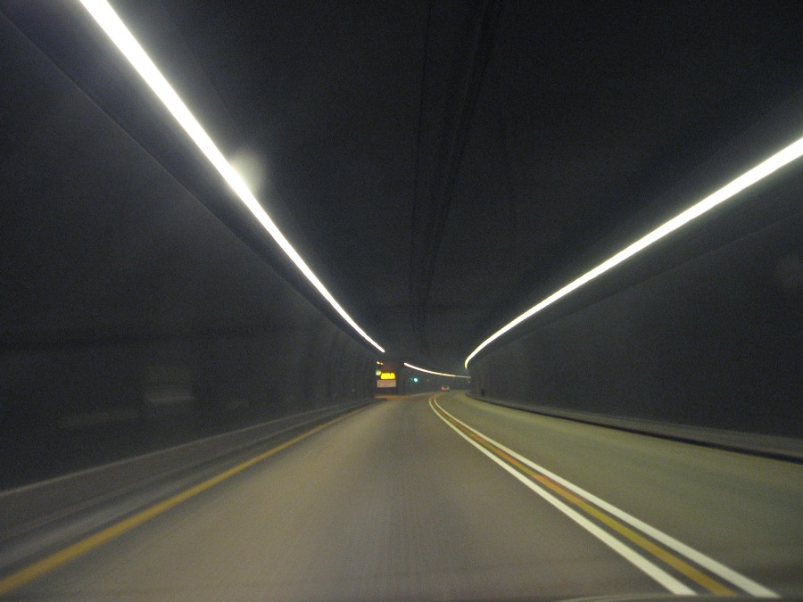 Light inside the tunnel