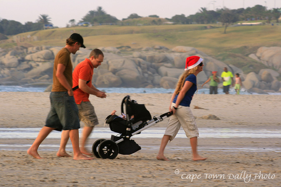 Miss Claus spotted on Camps Bay beach