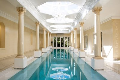 Camelot Villa's Roman lap pool