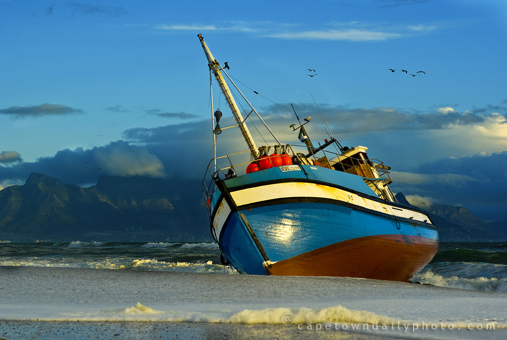 Ships on Melkbosstrand beach? Huh?