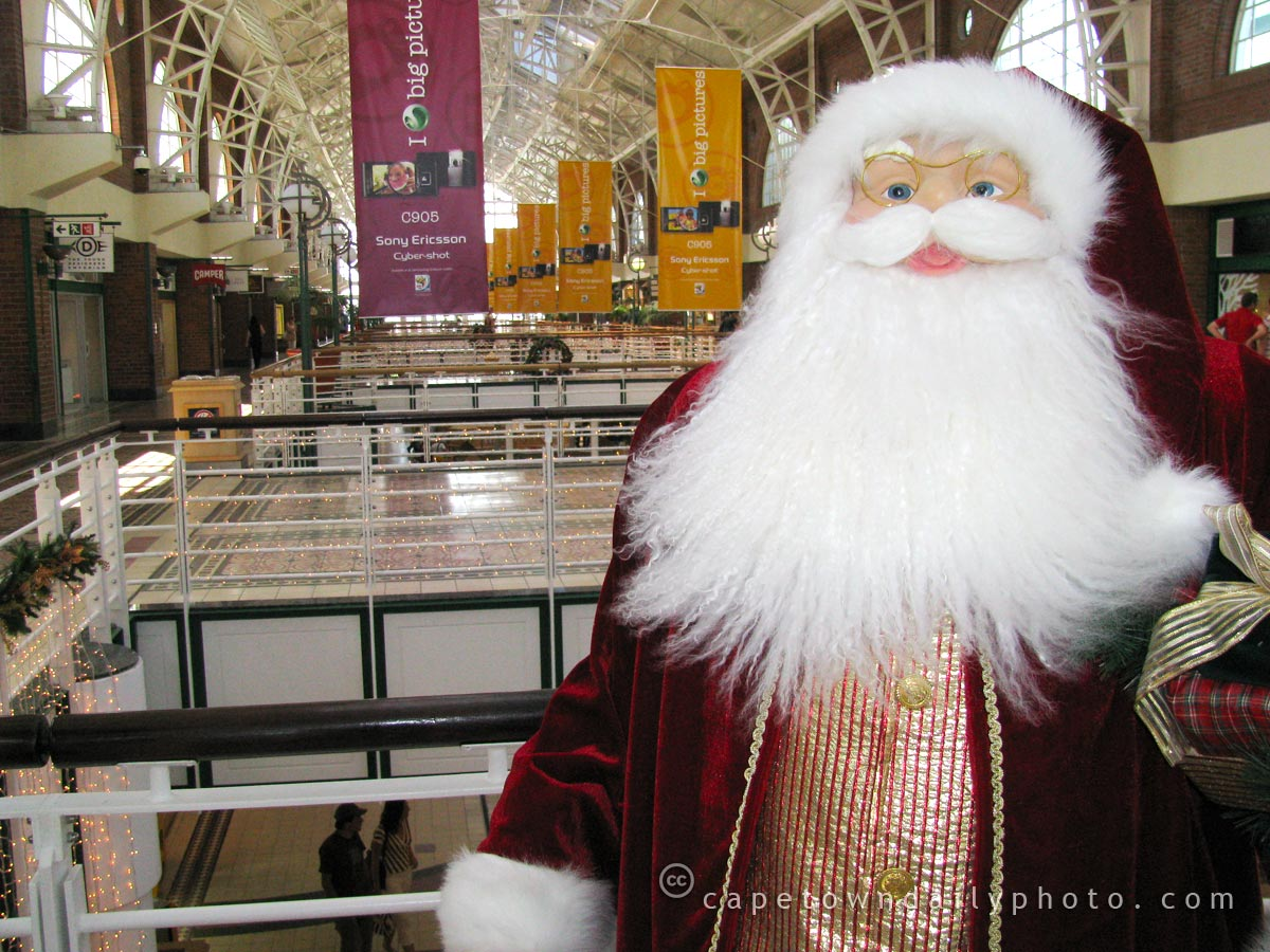 Santa Claus, stuck in Cape Town