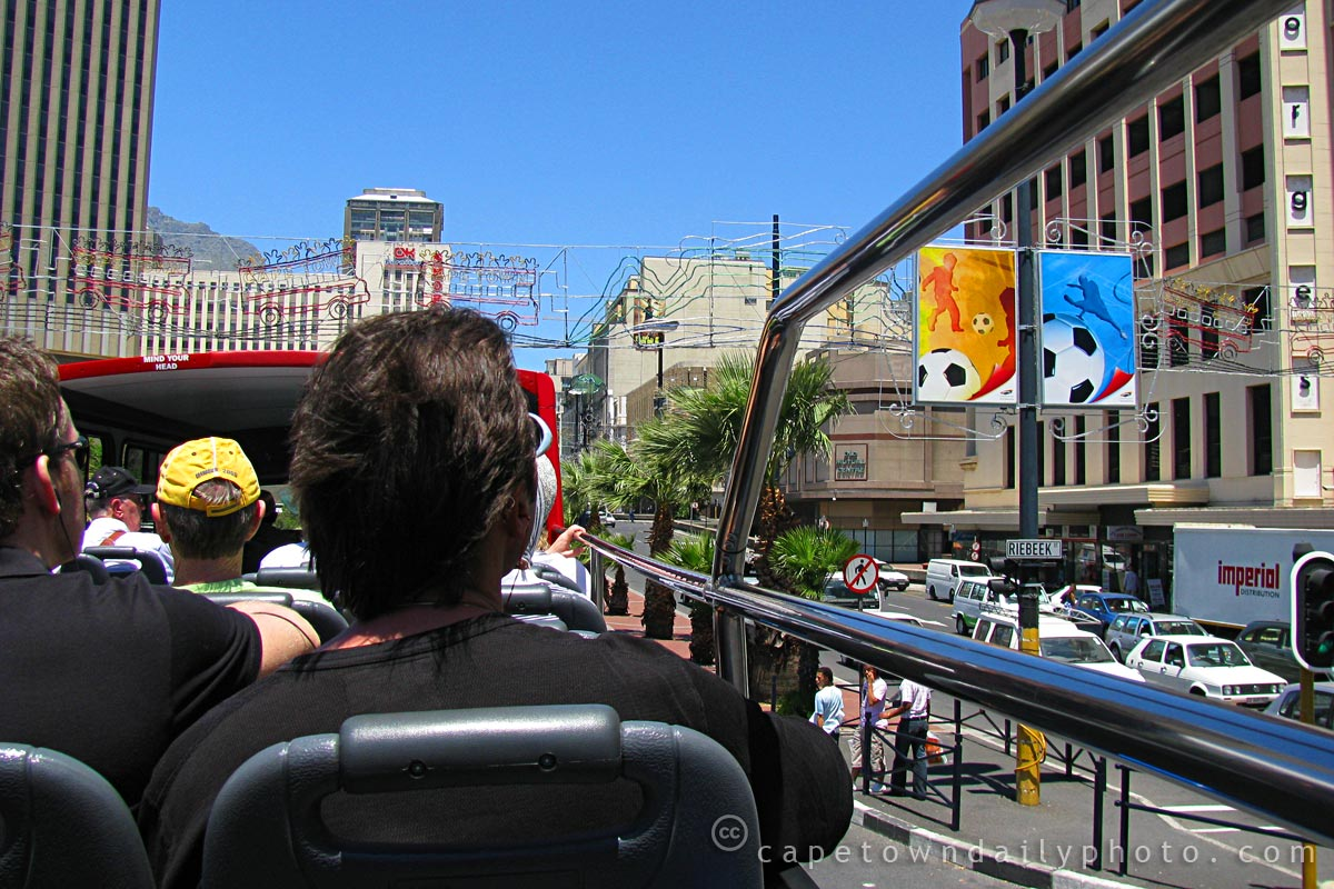 Cape Town's topless bus tour