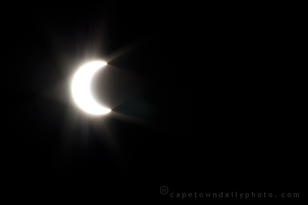 Partial solar eclipse from Cape Town
