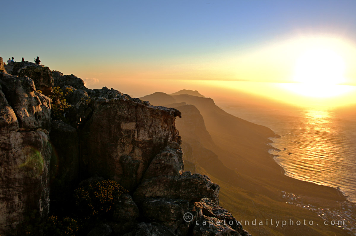 Table Mountain Of Twelve Apostles From Table Mountain Cape Town Daily Photo