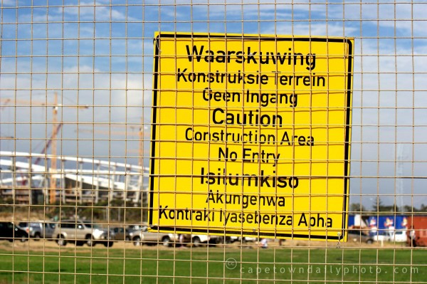 Green Point stadium construction