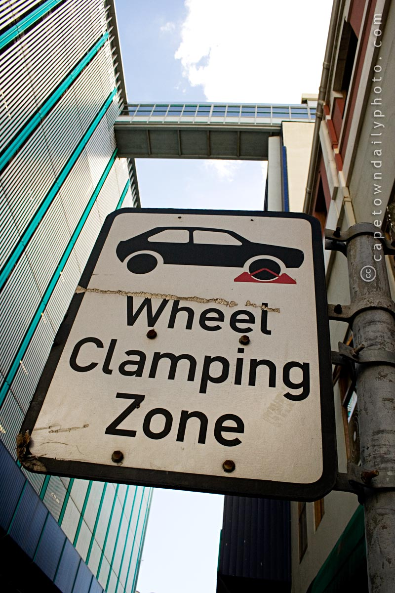 Wheel Clamping sign