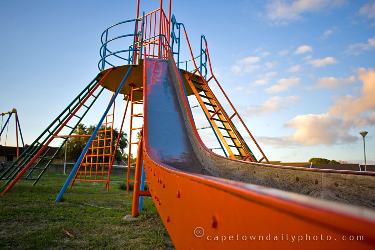 Playpark slide for big kids