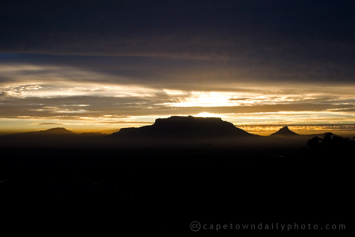 Sunset behind Table Mountain