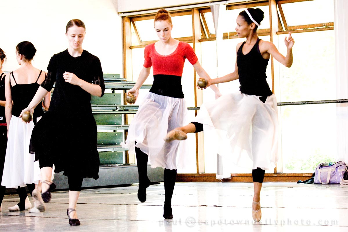 Ballet practice at UCT School of Dance