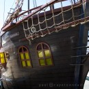 Jolly Roger pirate boat