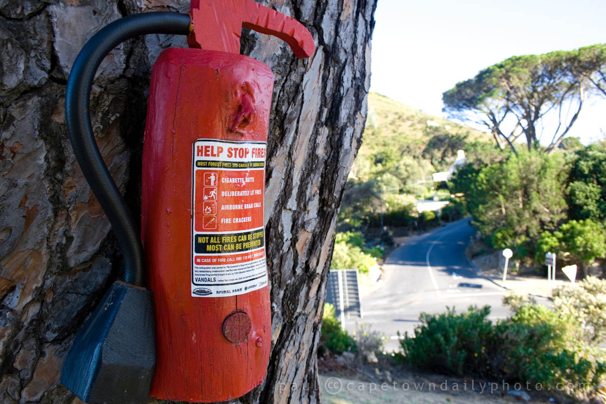 It's not a real fire extinguisher, silly
