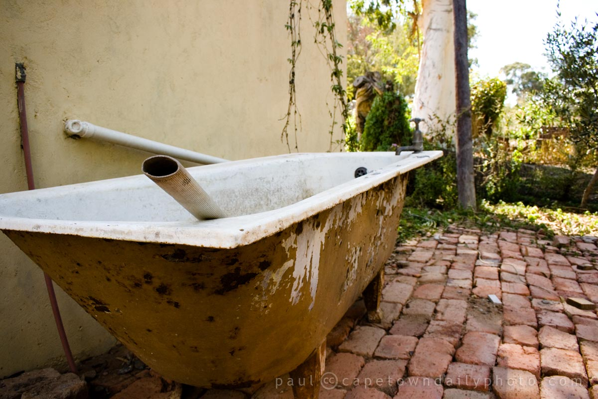 An outside bath