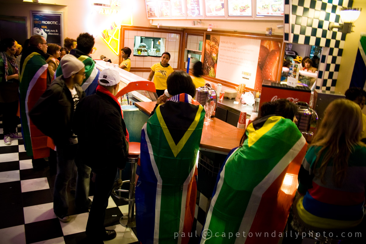 South African supporters