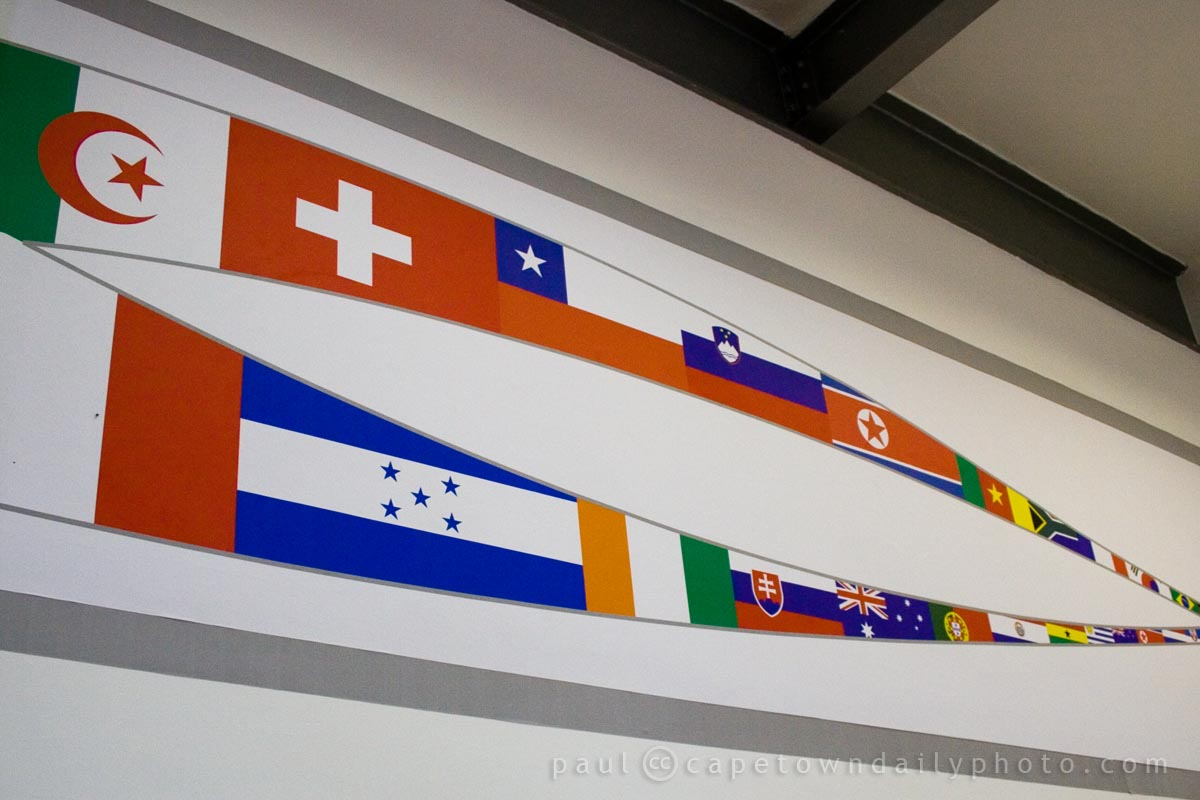 Flags in the Ticketing Office