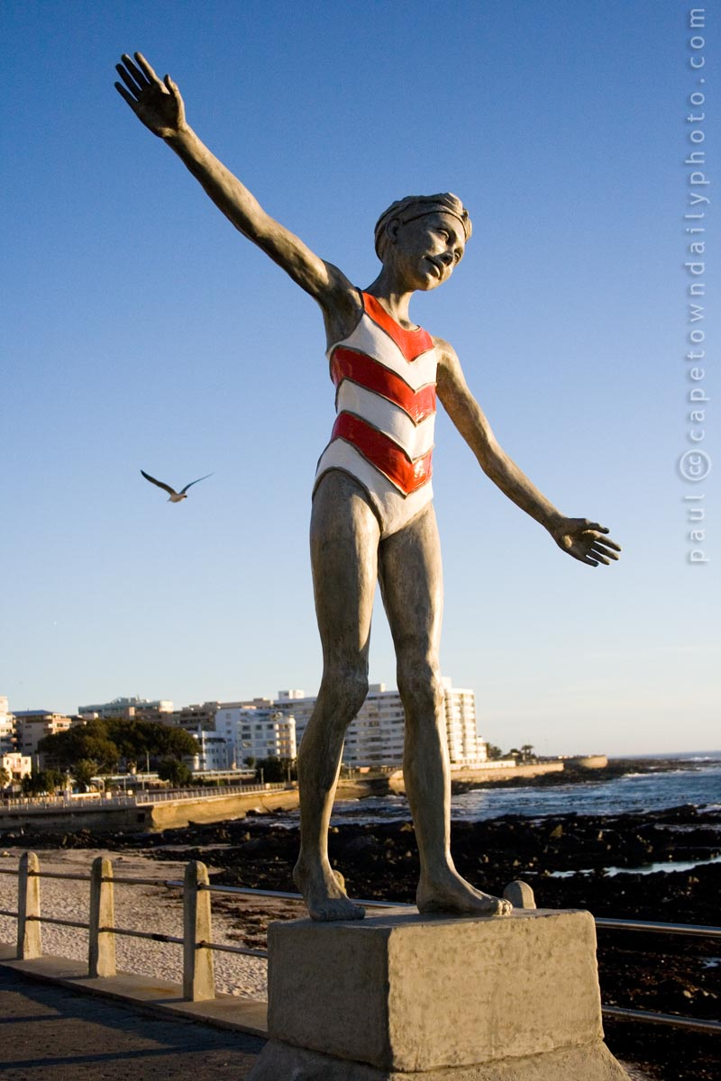 Statue at Sea Point promenade