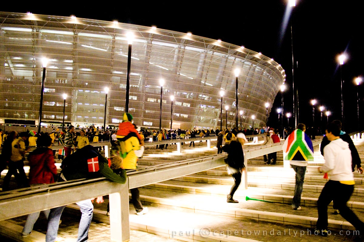 Outside Cape Town Stadium