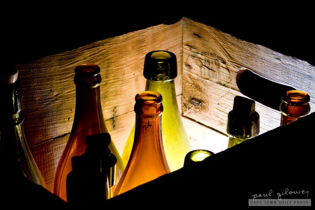 Bottles of beer in a crate