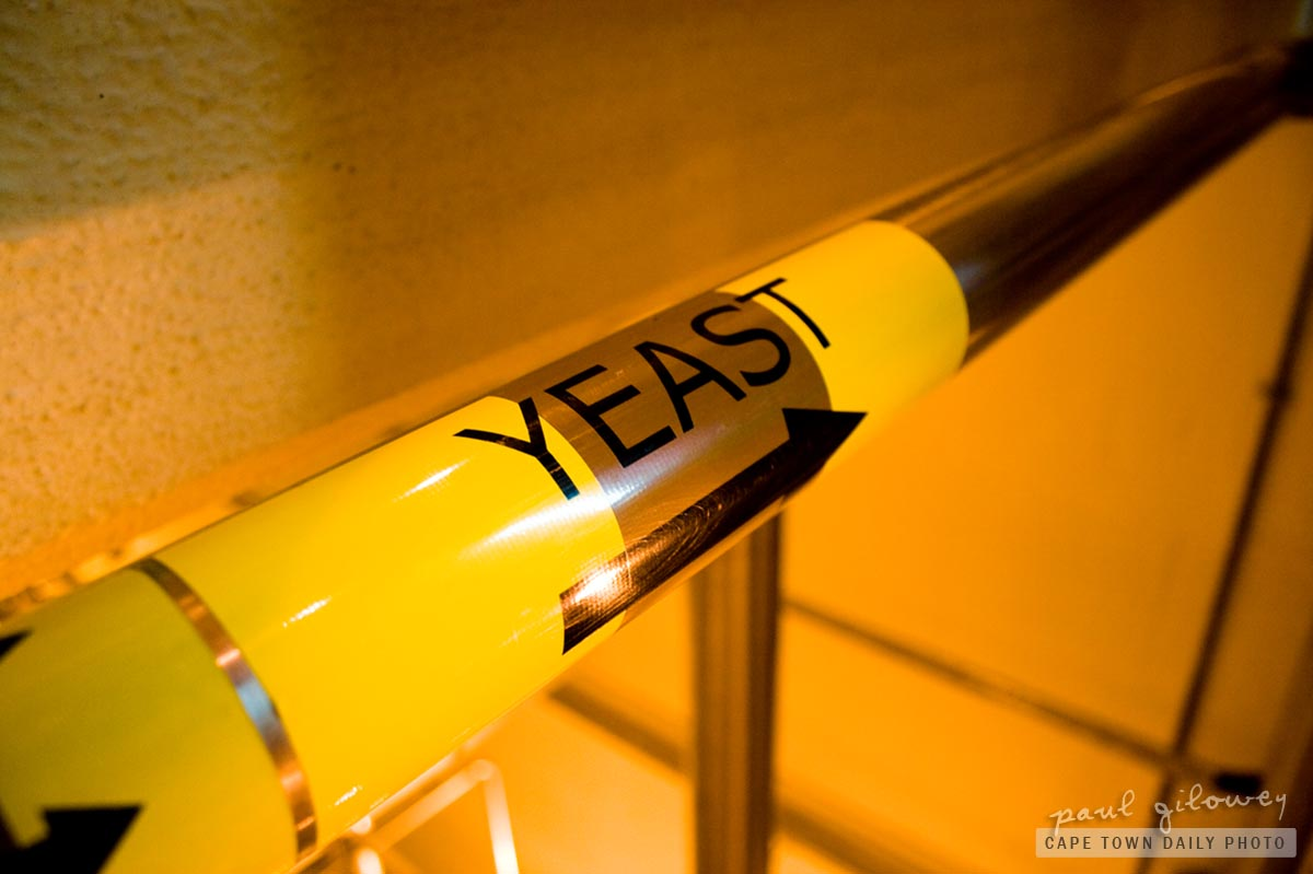 Pipe of yeast
