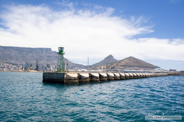 Breakwater at Table Bay harbour