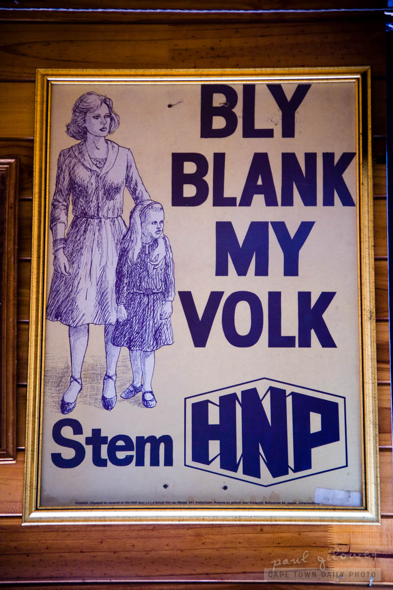 An old South African political poster