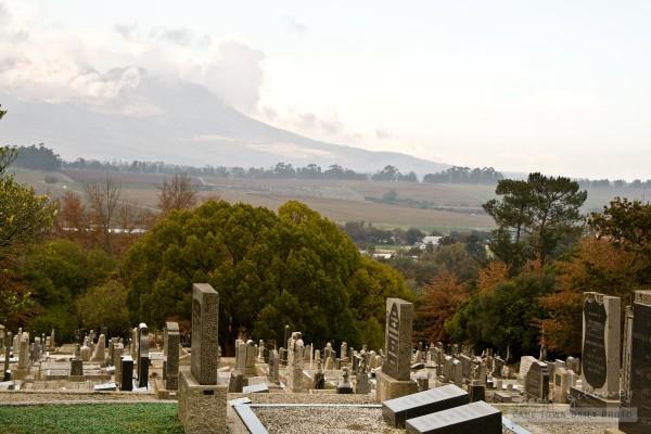 A beautiful view from Stellenbosch Cemetery
