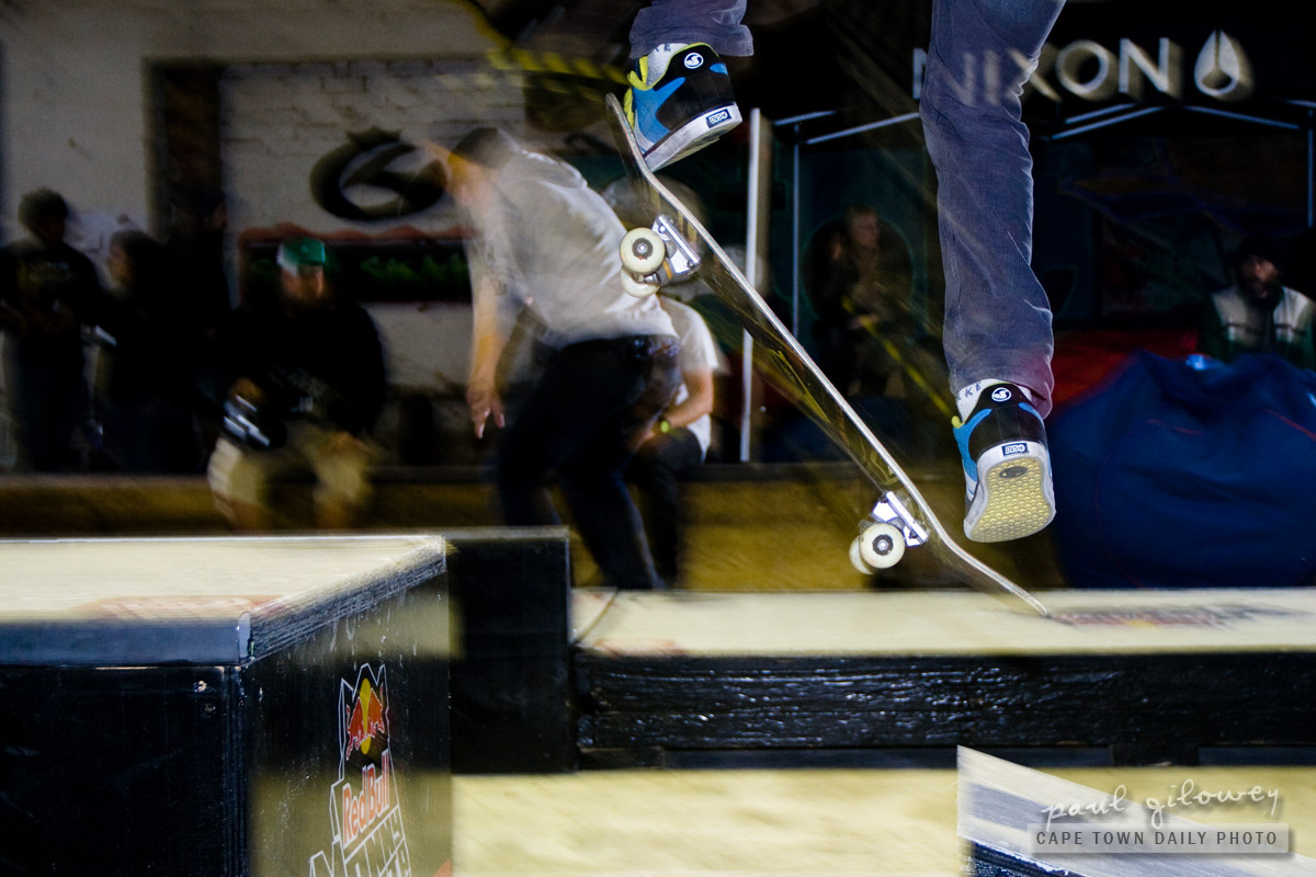 Skateboard in flight