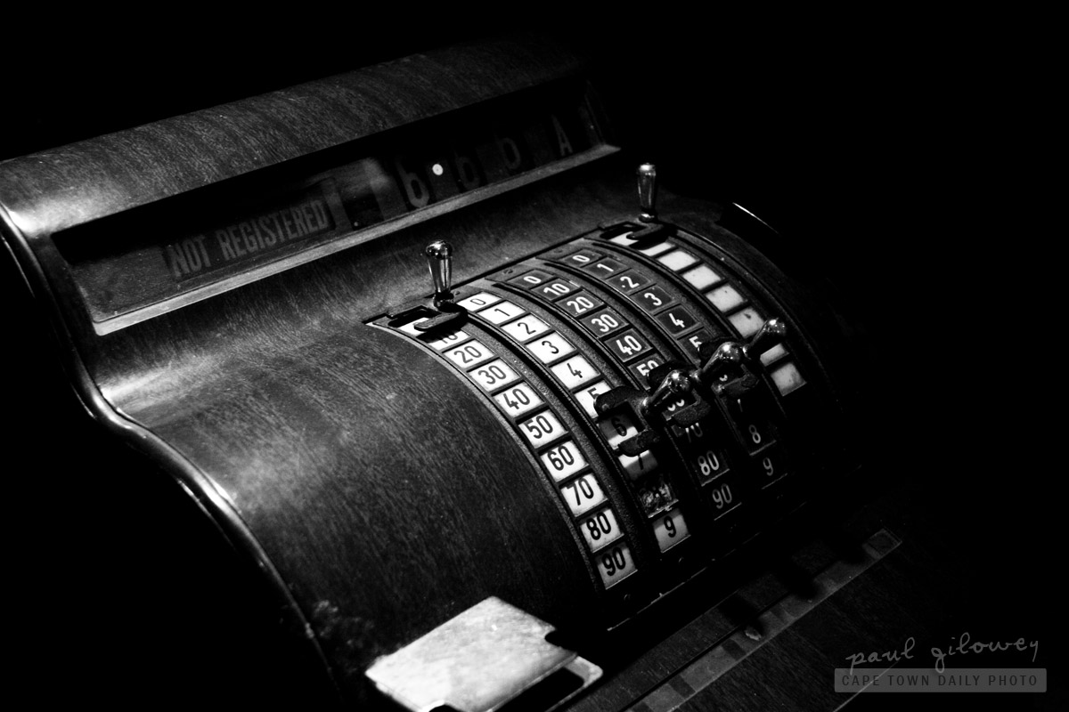 An old cash register