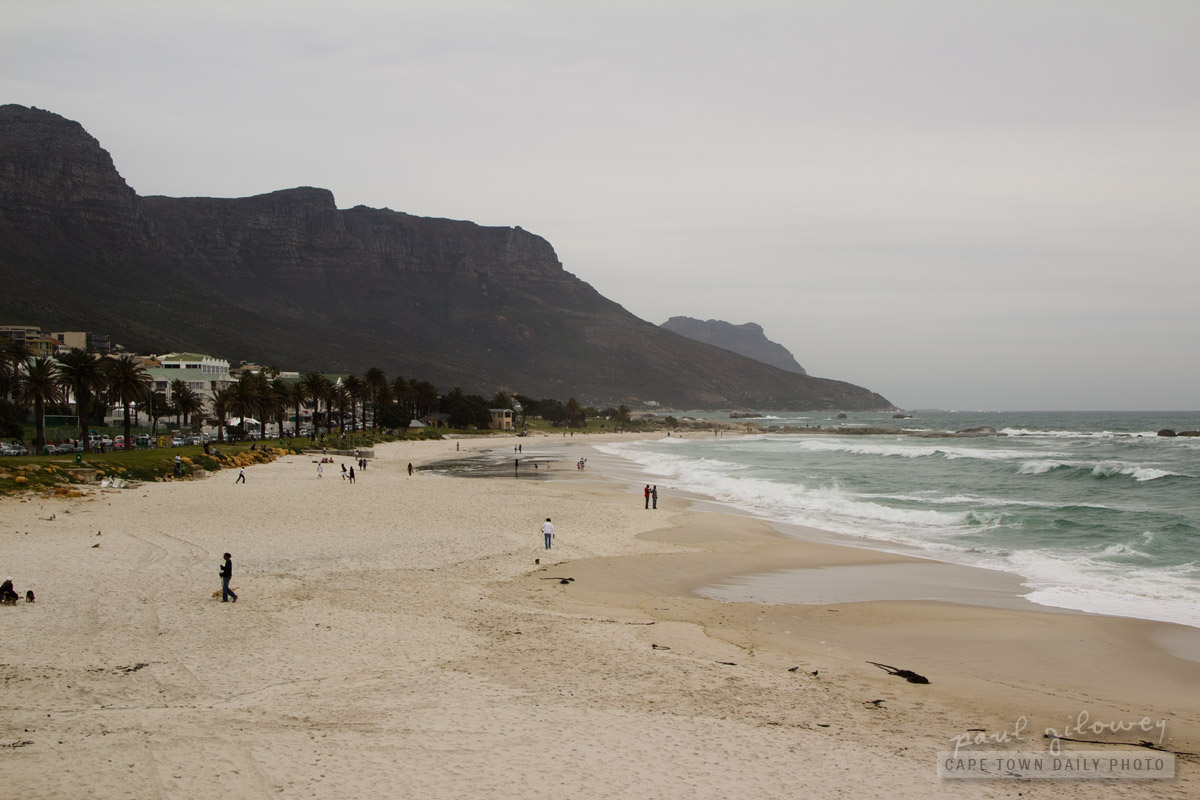 The idyllic Camps Bay beach