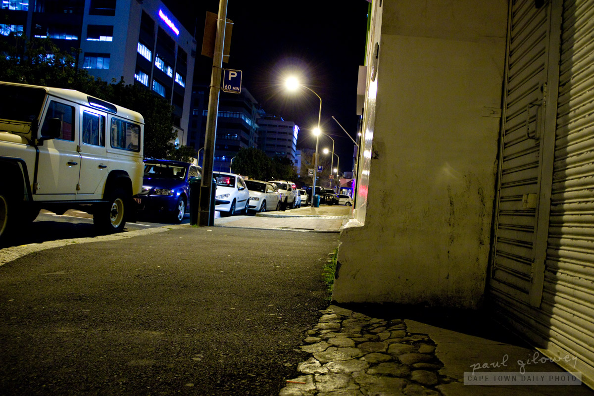 Cape Town streets at night