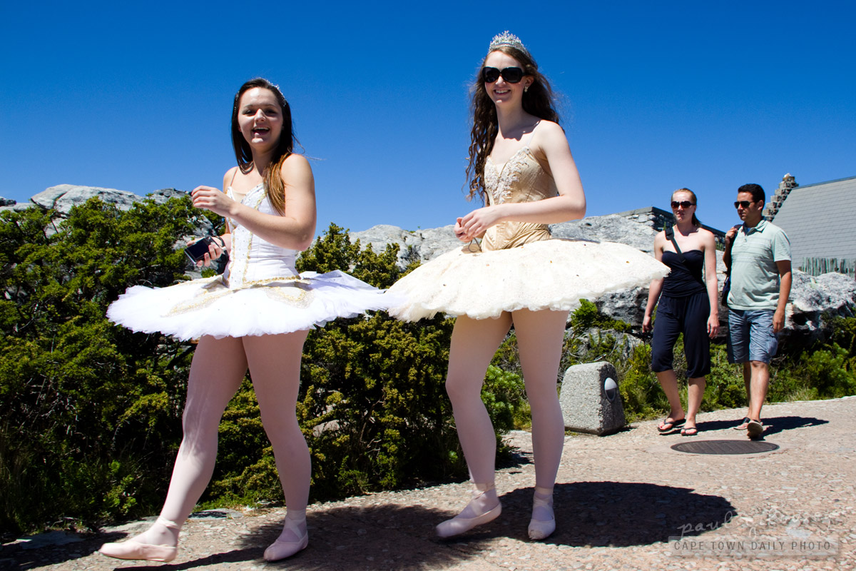 Ballerinas on Table Mountain