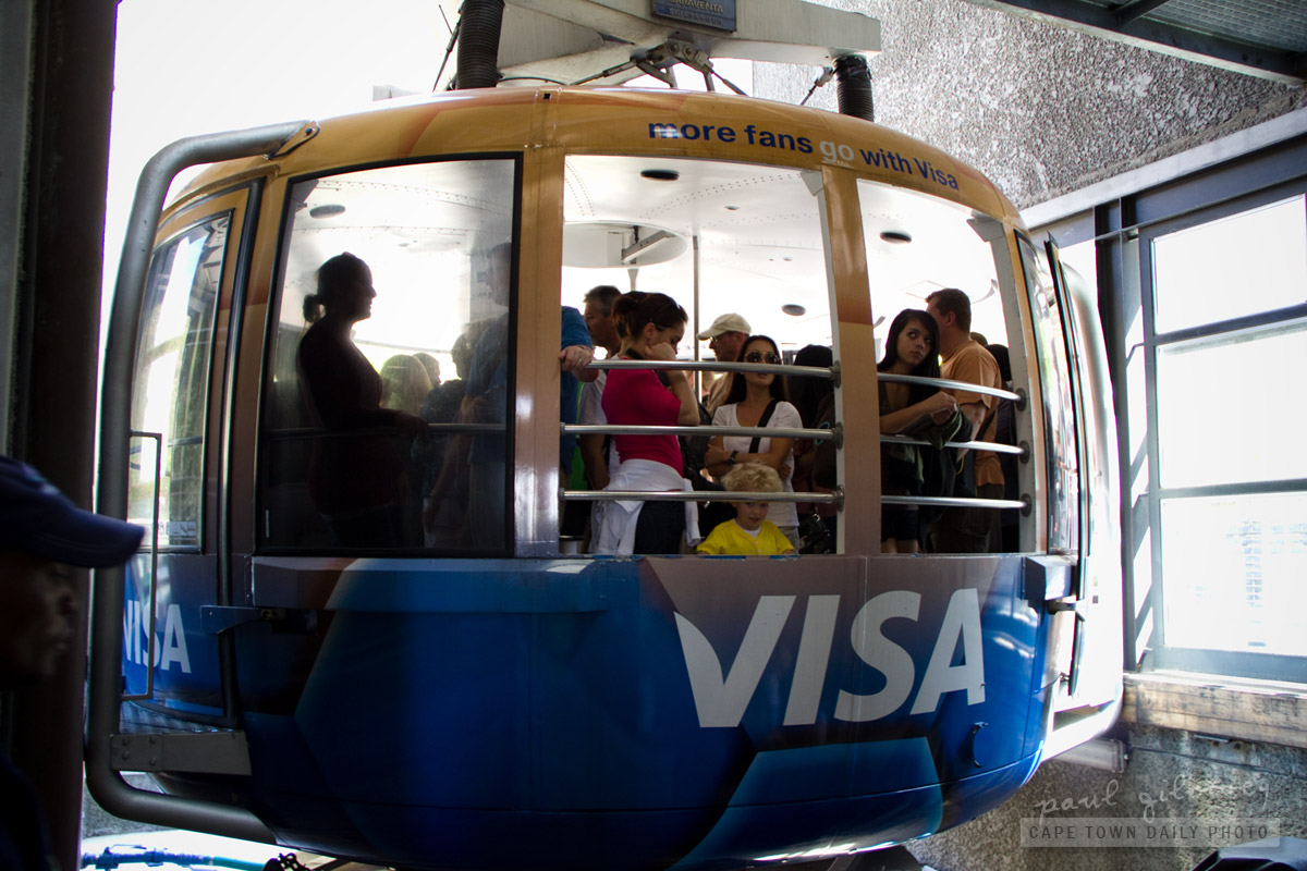 The 65-passenger Table Mountain cable car