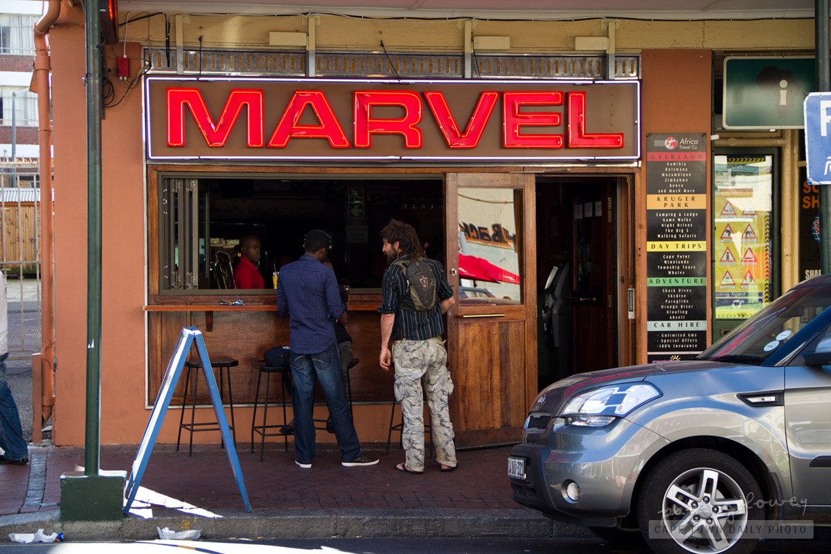 MARVEL - it's a  bar, not a comic