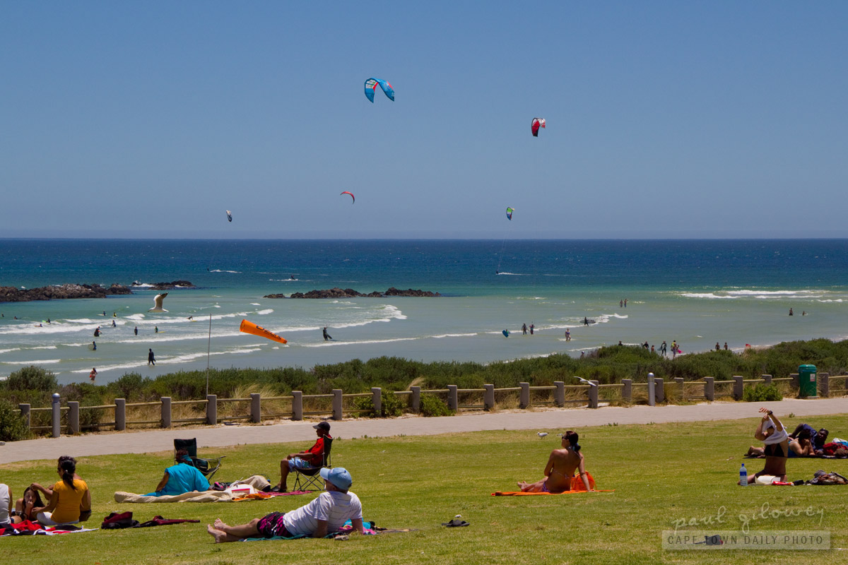 Kite surfing at Big Bay