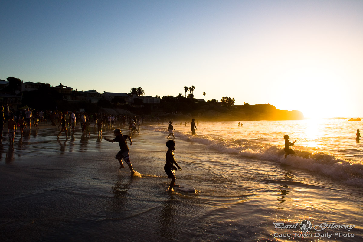 Summer evenings at the beach   Cape Town Daily Photo