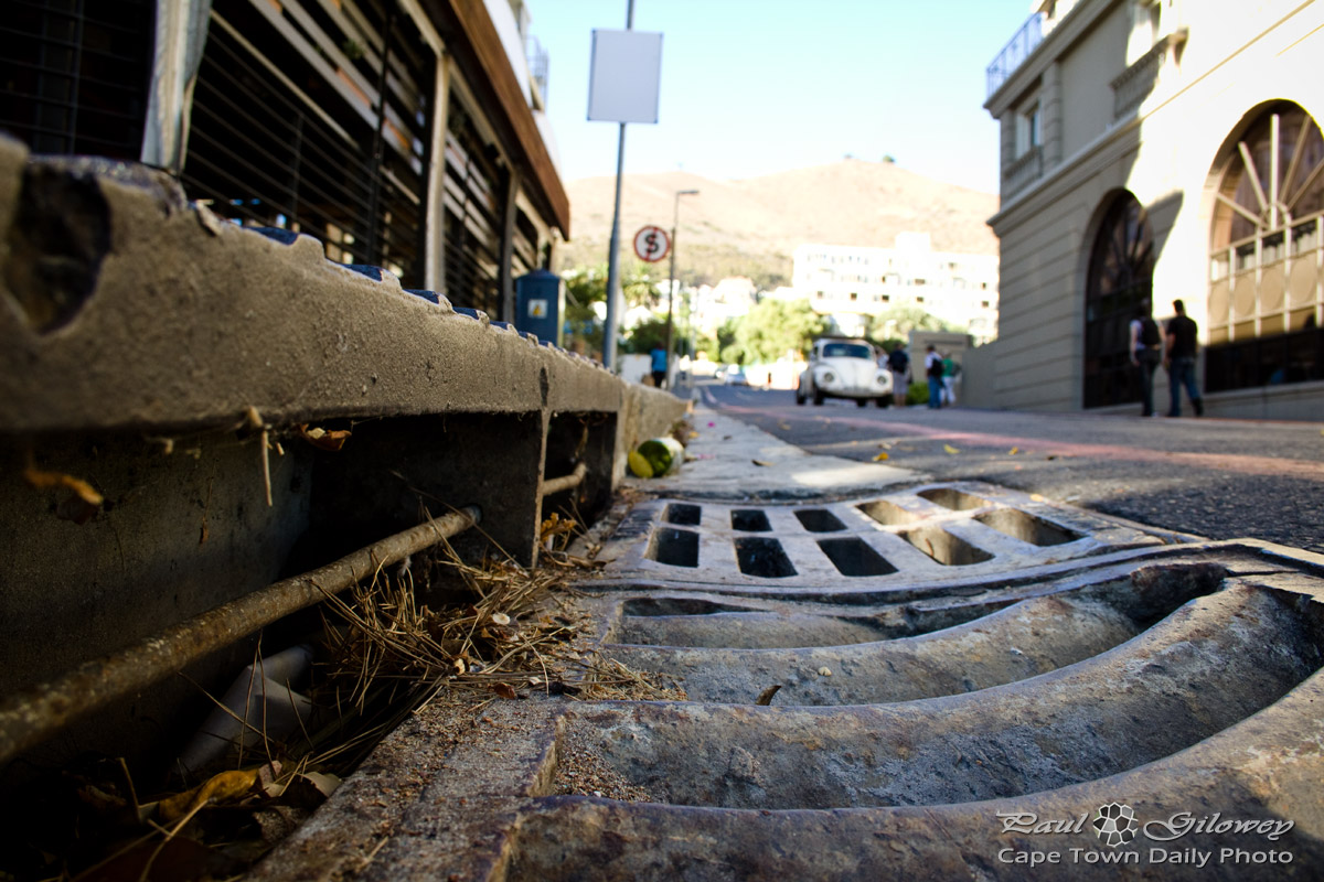 Into The Gutter Down The Drain Cape Town Daily Photo
