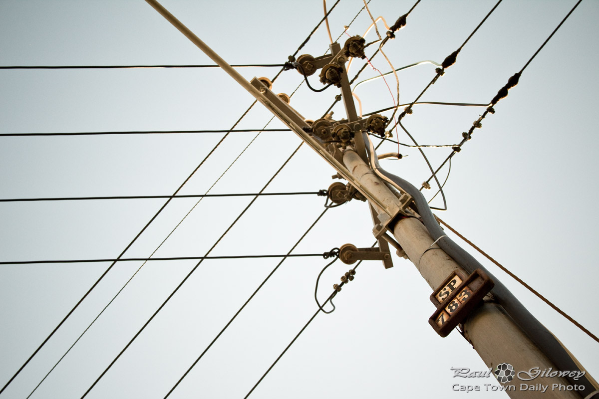 Telephone poles – far too many wires | Cape Town Daily Photo