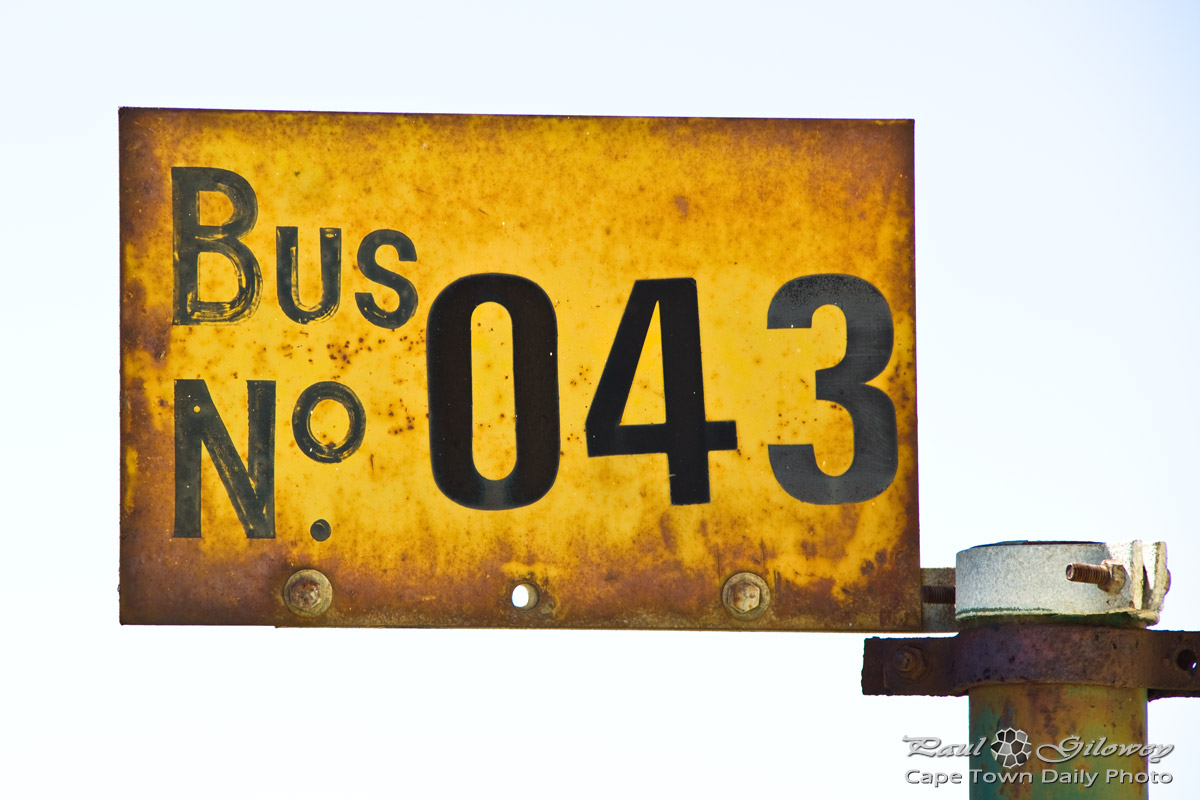Mouille Point bus sign, number 043