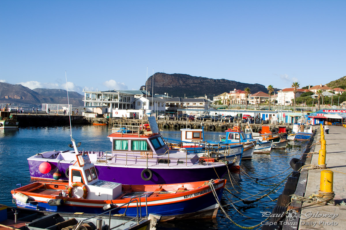 Colourful boats of kalk bay