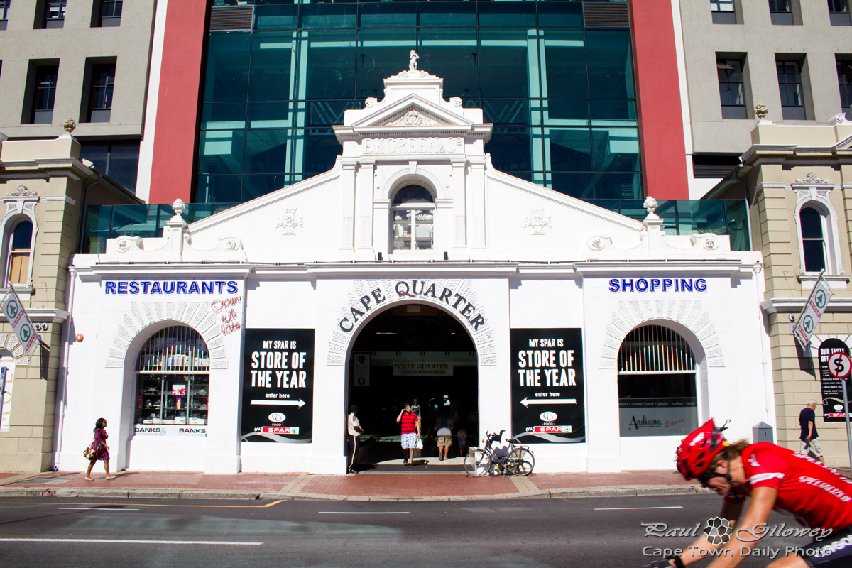 The Cape Quarter cyclist
