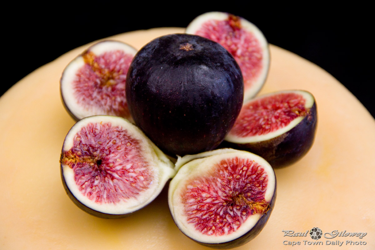 Fresh figs on cheese