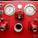 Fire truck water pump gauges