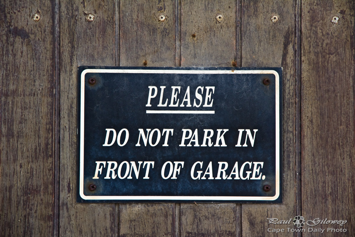 Please don't park here