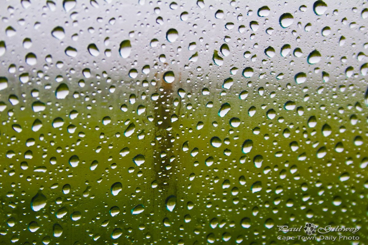 Rain drops on glass window