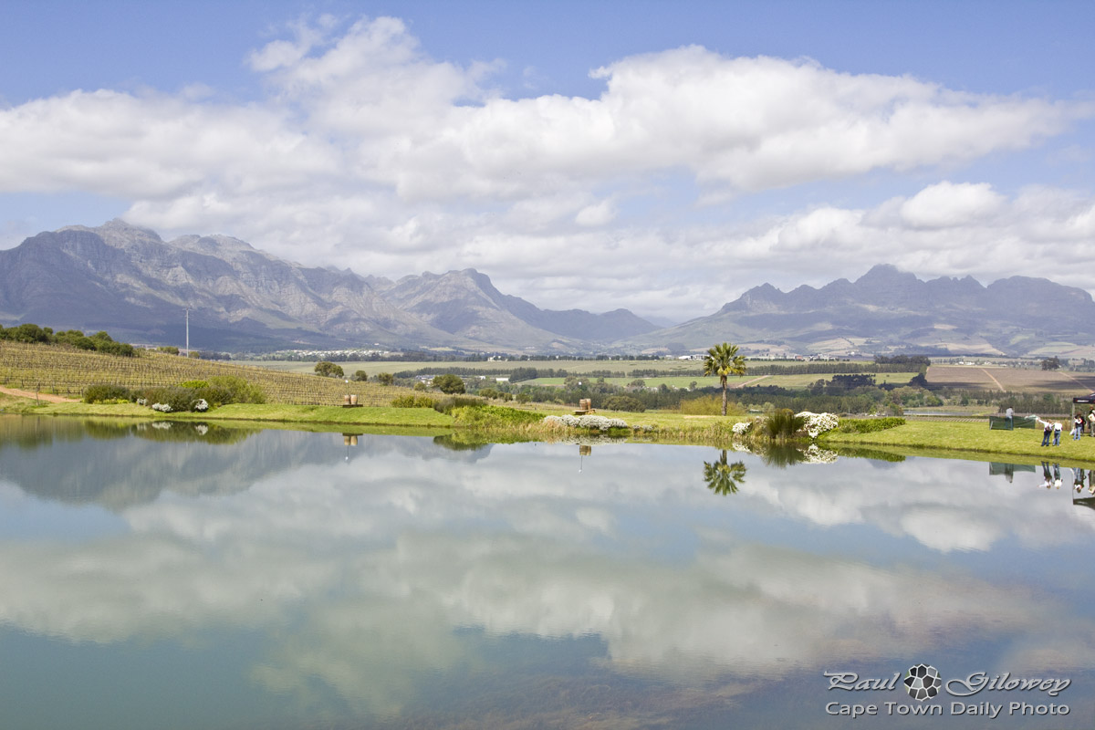 Stellenbosch mountains from Asara