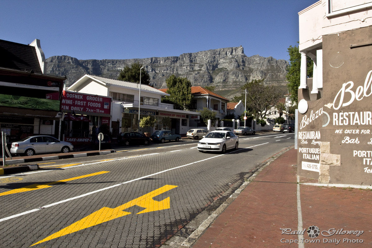 Kloof Nek Road and Table Mountain