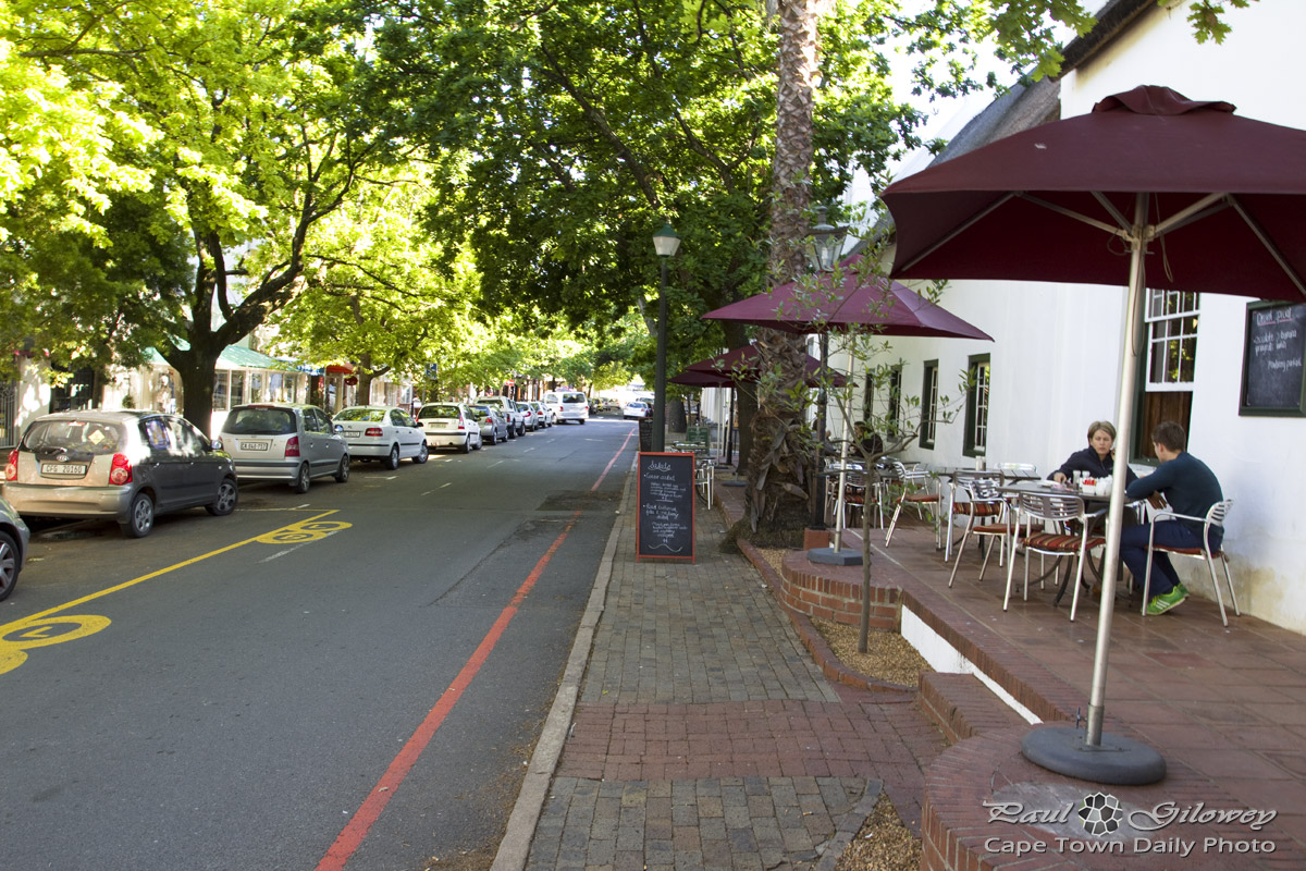 The leafy Andringa Road in Stellenbosch