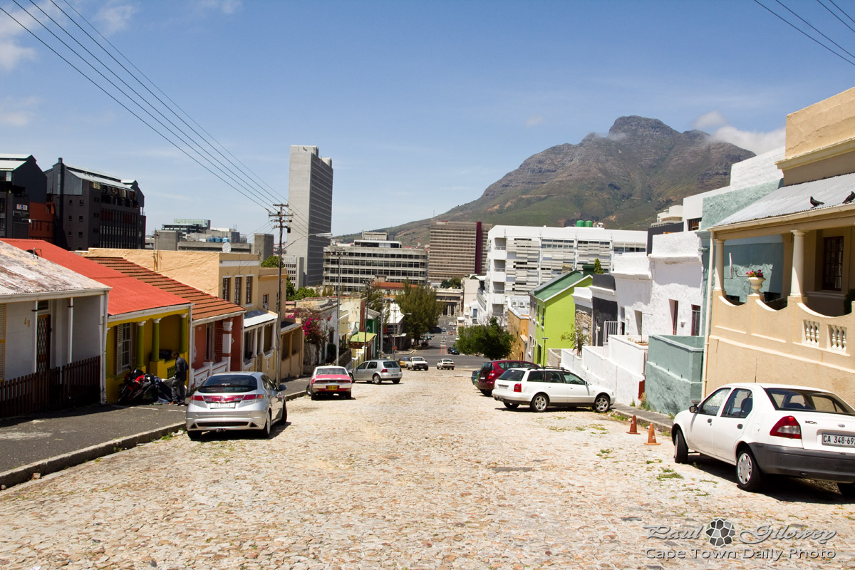 A knobbly road in Bo Kaap