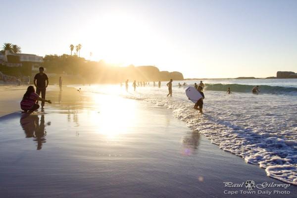 Like a beach at sunset