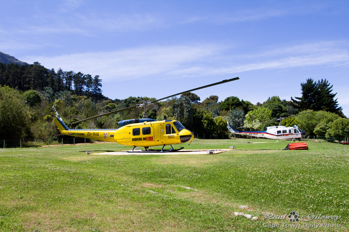 Helicopters at Working on Fire's Newlands base